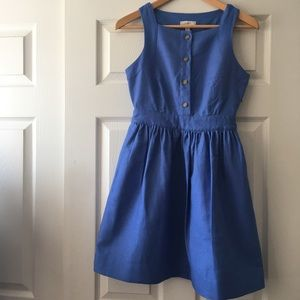 J. Crew Blue Linen Dress w/Pockets